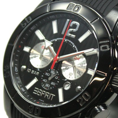 Esprit Herrenuhr No Limits night Chrono Kautschuk Gun Color Herren Uhr UVP* 139