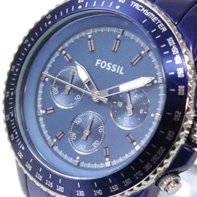 Damenuhren fossil stella  Fossil Damenuhr Sport Chronograph Aluminium Stella Large Blau Uhr ...