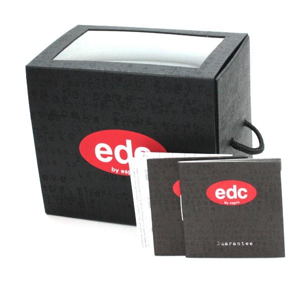 EDC by Esprit Damenuhr blushing flowers -midnight black Silikonband EE100422001