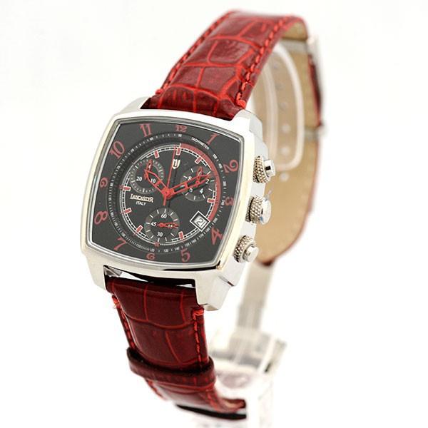 Lancaster Uhr Unico Watch Quarz Chrono Datum Leder