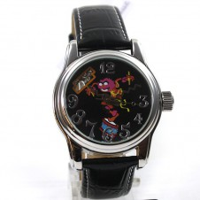 the-muppets-montre-montre-pour-femme-montre-automatique-muppet-babie-cuir-bracelet-montre-de-collection