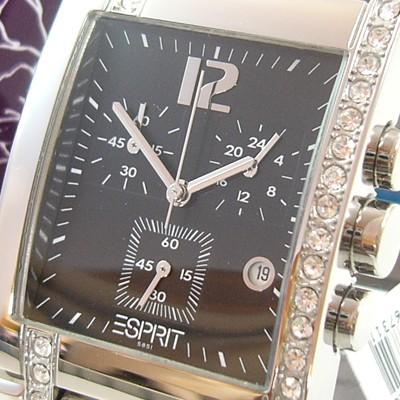Houston black Damen Chronograph ES000DE2001