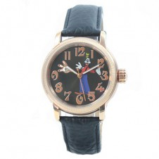 disney-watch-ladies-automatic-watch-goofy-rose-gold-leather-bracelet-collector-s-watch-skeletiert