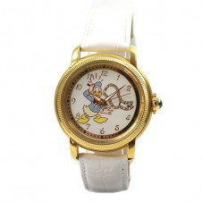 disney-doree-sammler-montre-femmes-montre-automatique-donald-duck-strass-cuir-bracelet
