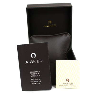 aigner ravello due damenuhr leder gold swiss made uhren quarz damen. Black Bedroom Furniture Sets. Home Design Ideas