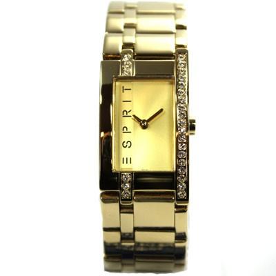 Damenuhr Gold Houston Strass Uhr ES000M02006