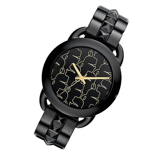 karl lagerfeld montre elegante montre pour femme gun color. Black Bedroom Furniture Sets. Home Design Ideas