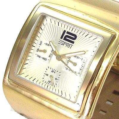 Funky Button Gold Uhr Damen-Spangenuhr
