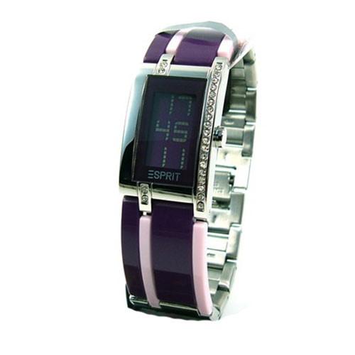 esprit noca purple damenuhr digitaluhr quarz modeuhr 4326725 es000dt2002 ausverkauft. Black Bedroom Furniture Sets. Home Design Ideas