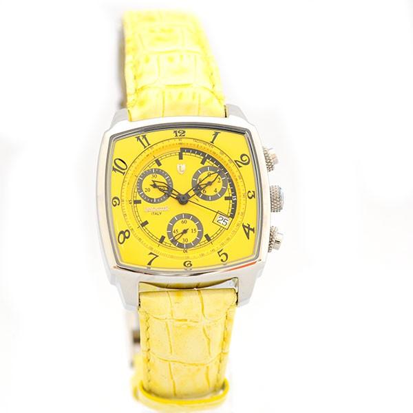 lancaster uhr unico yellow quarz chrono datum leder modische damenarmbanduhr 0262 sgel uhren. Black Bedroom Furniture Sets. Home Design Ideas