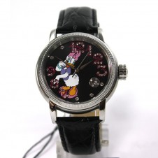 disney-watch-automatic-watch-daisy-duck-women-s-watch-leather-bracelet-date-rhinestones-collector-s-watch