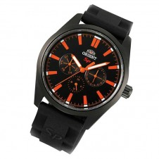 uhren/day-date/herren/orient-sp-sporty-orange-quarz-tag-datum-kautschuk-schwarz-gun-color-fux00002b0