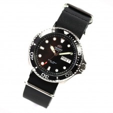 orient-ray-ii-deep-black-diver-men-s-watch-automatic-nato-leather-new