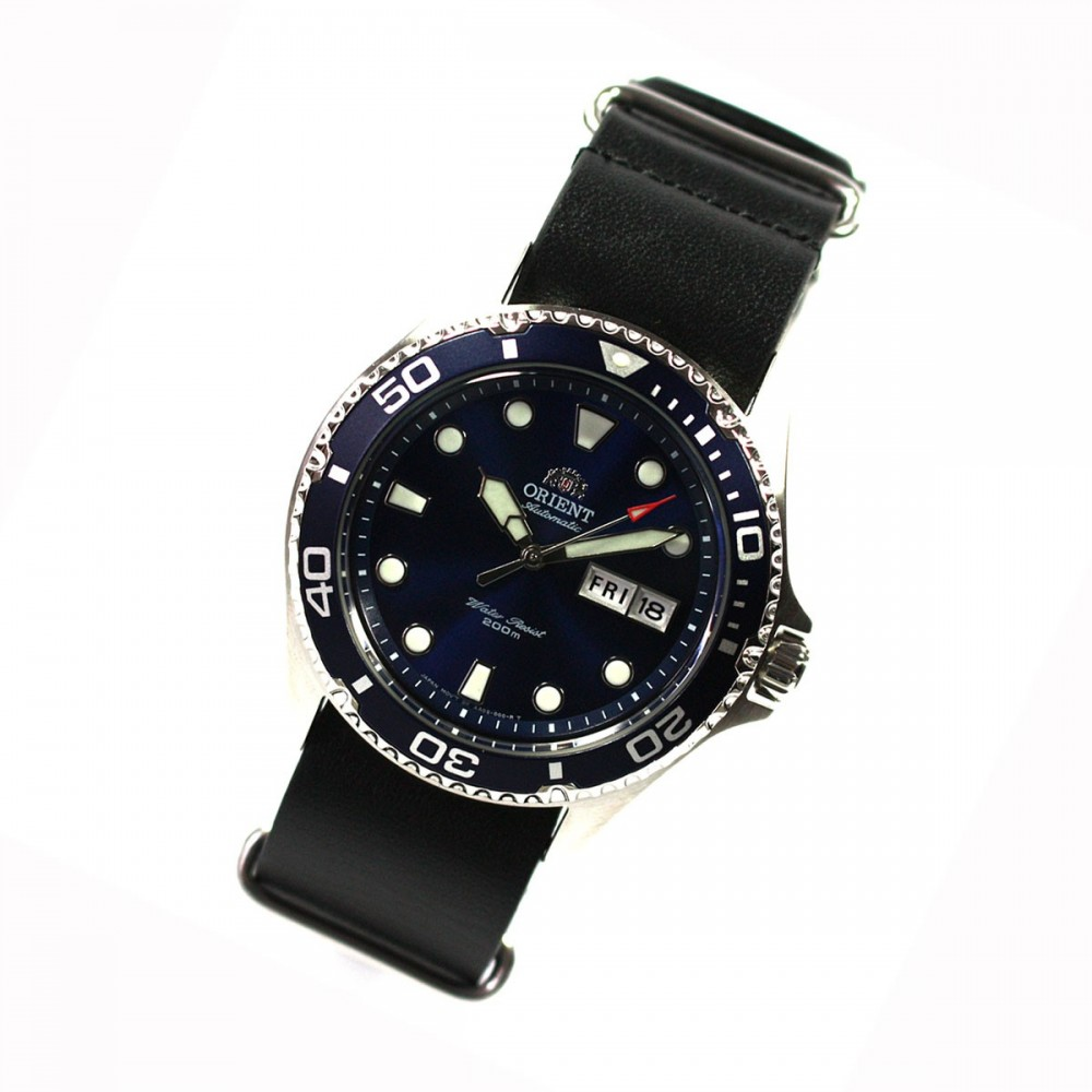 orient ray ii deep blue diver herrenuhr automatikuhr. Black Bedroom Furniture Sets. Home Design Ideas